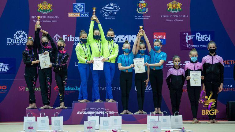 Първият отбор на Левски спечели титлата при девойките младша възраст на държавното по художествена гимнастика