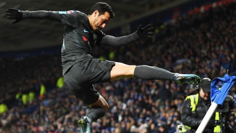 Педро прати Челси на полуфиналите (видео)