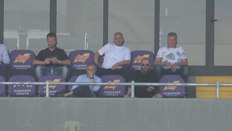 Собствениците на Левски в ложата с националните треньори