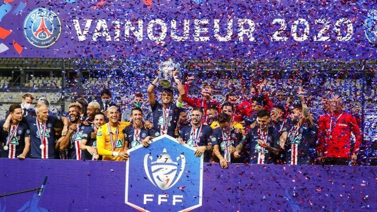 Футболът във Франция се завърна с купа за ПСЖ и контузия на Мбапе (видео)