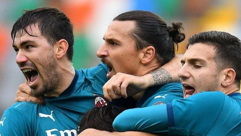 Супер гол на Ибрахимович донесе на Милан успеха с 2:1 срещу Удинезе