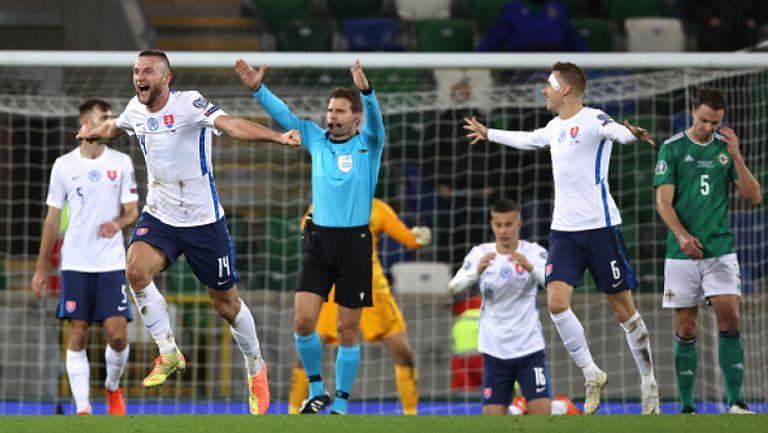 Северна Ирландия - Словакия 1:2