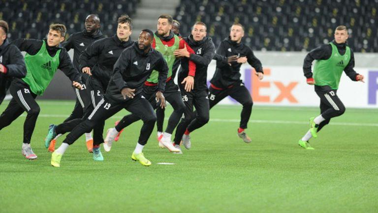ЦСКА-София проведе официалната си тренировка в Берн