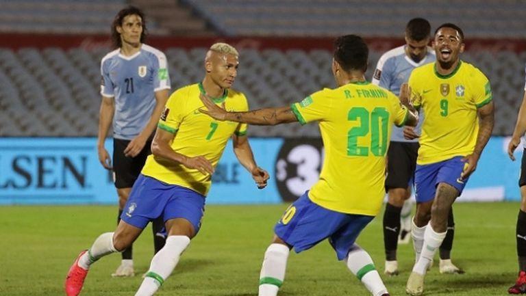Бразилия не се затрудни с Уругвай, изгониха Кавани (видео)