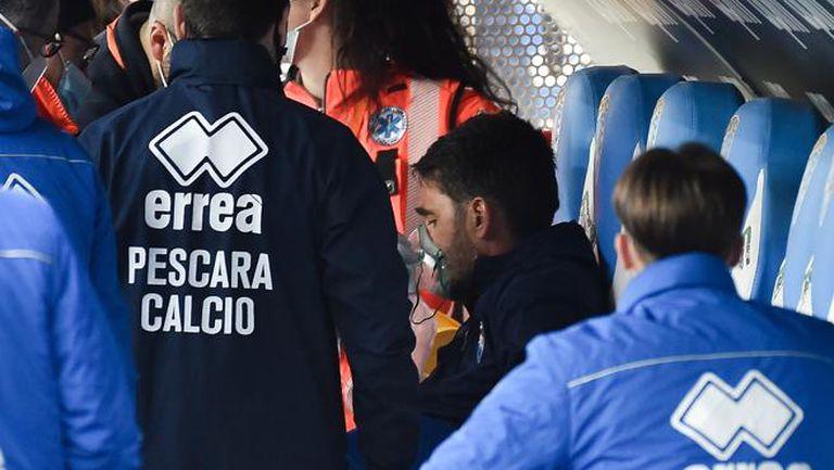 За втори път италиански треньор се доближи до смъртта по време на мач 🙏🏻