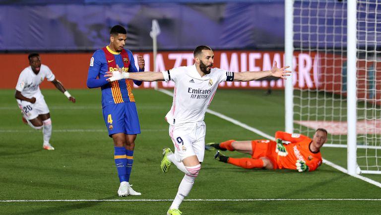 Реал Мадрид пак удари Барселона и се изкачи на върха (видео)