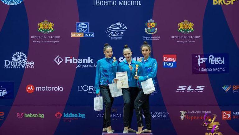"""Първият отбор на """"Левски Илиана"""" спечели титлата при жените на държавното отборно първенство по художествена гимнастика"""