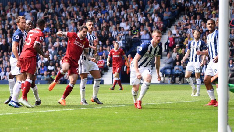 Ливърпул изпусна аванс от два гола, Салах продължава да бележи (видео)