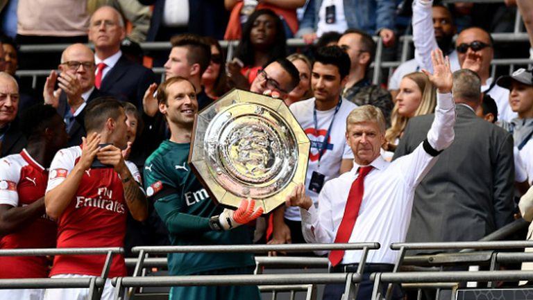 """Арсенал пак победи Челси на """"Уембли"""" и стартира с трофей (видео)"""