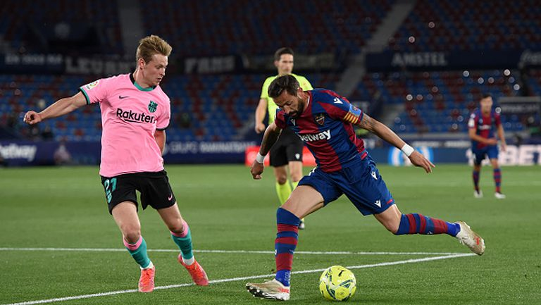Леванте удари по шампионските амбиции на Барселона