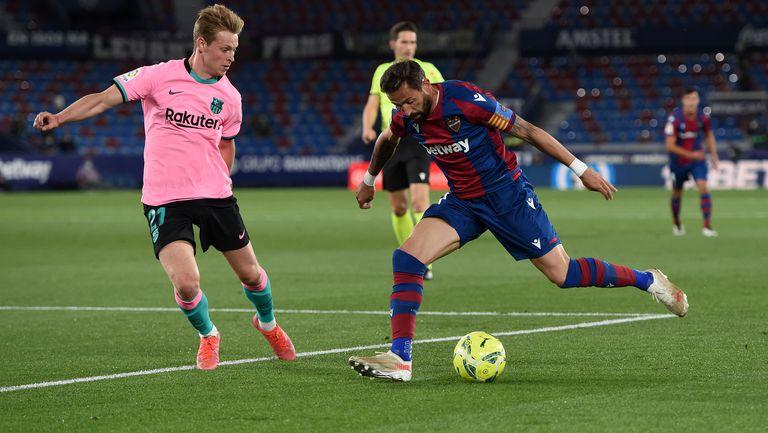 Леванте удари по шампионските амбиции на Барселона (видео)