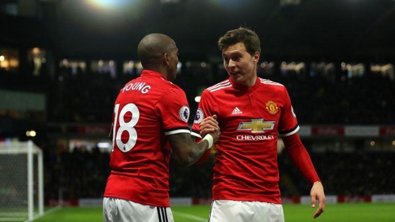Ман Юнайтед си поигра с огъня, но спечели головото шоу с Уотфорд (видео)
