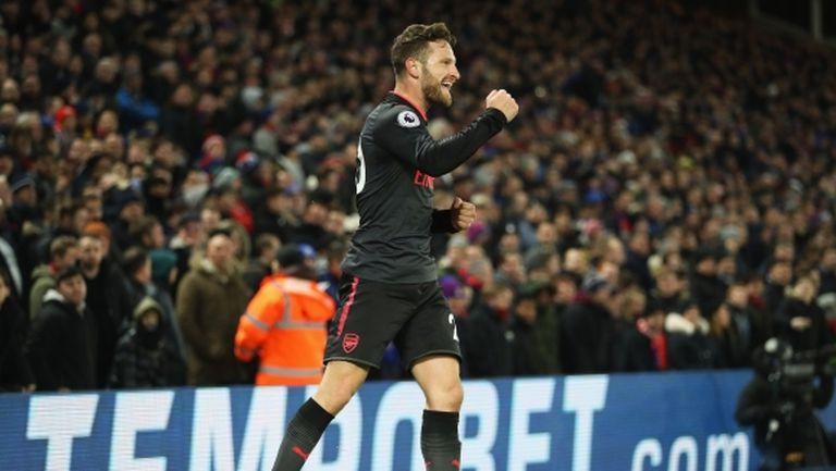 Арсенал триумфира над Кристъл Палас в рекорден мач на Венгер