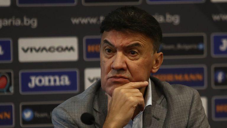 Боби Михайлов обявява решенията на редовния изпълком на БФС