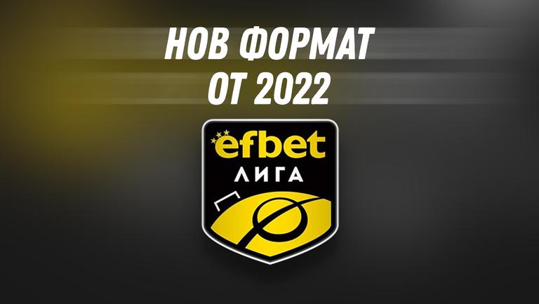 Официално: efbet Лига с 16 отбора от 2022 година