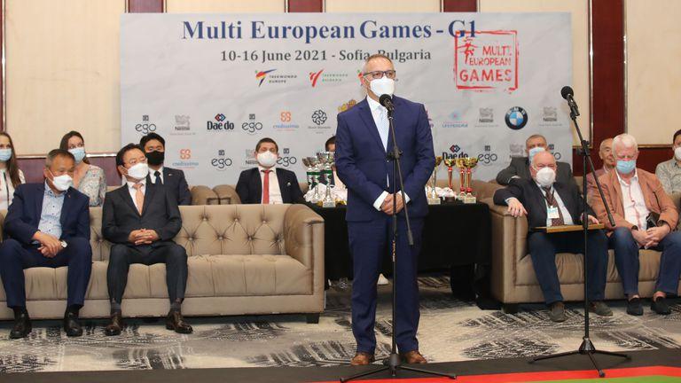 Министър Кузманов откри Мултиевропейските игри по таекуондо