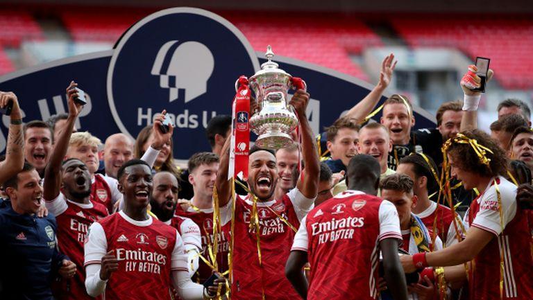 Обамеянг изведе Арсенал до рекордна Купа на Англия (видео)