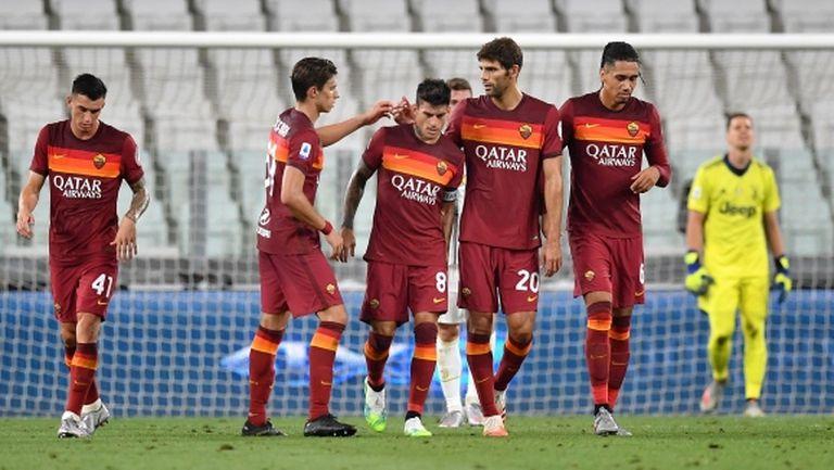 Рома развали шампионските празненства на Юве (видео + галерия)