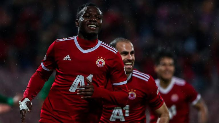 Бисмарк Чарлс направи резултата 2:0 за ЦСКА-София срещу Лудогорец