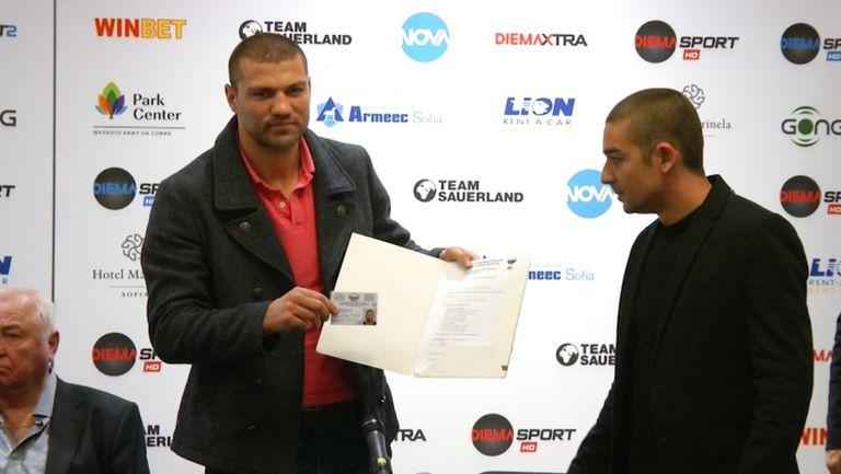 Тервел Пулев получи професионалния си лиценз