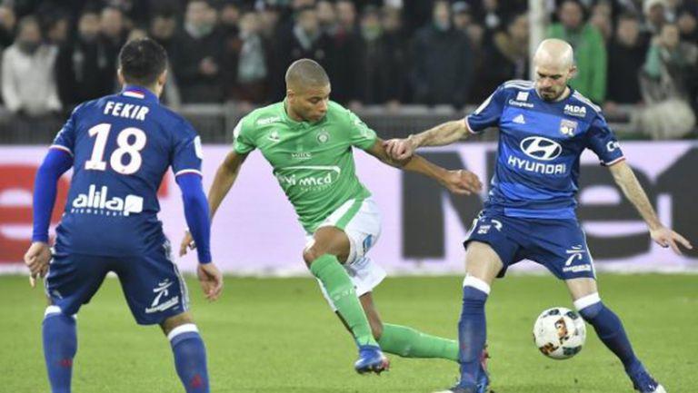 Сент Етиен удари Лион в дербито на Лига 1