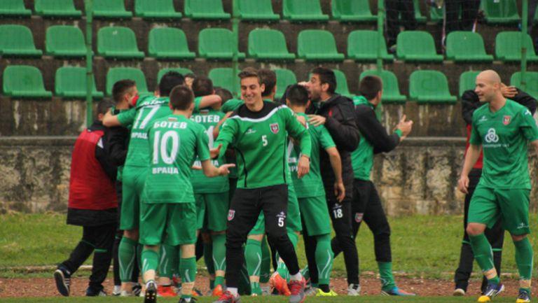 Ботев (Враца) удари последния във Втора лига
