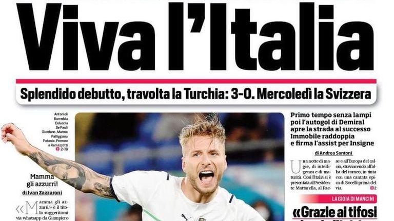 """Италианската спортна преса след летящия старт на """"Скуадра адзура"""": Така ви искаме!"""