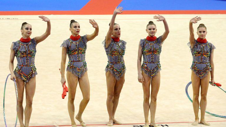 Пето място в многобоя за ансамбъла ни по художествена гимнастика