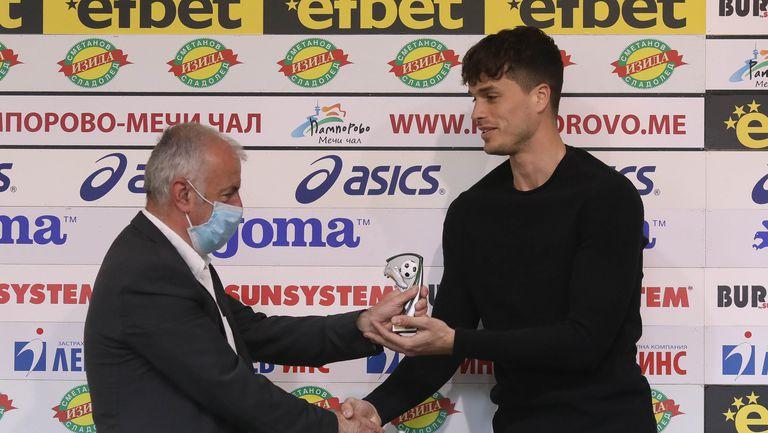 Юрген Матей получи приза за играч на 27-я кръг на efbet Лига