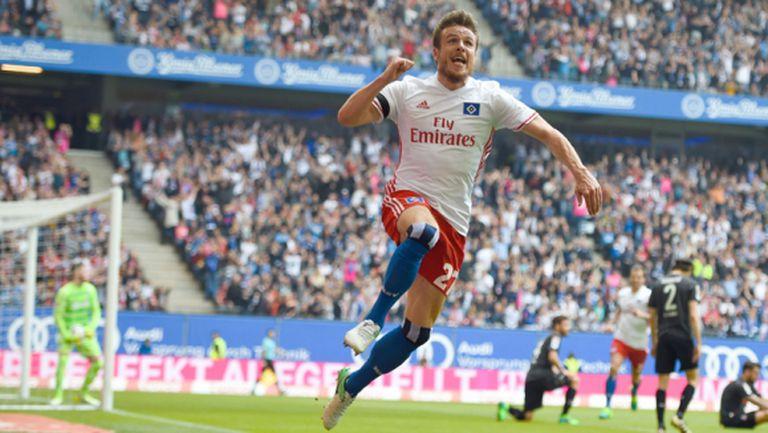 Хамбургер измъкна трите точки срещу Кьолн след късен гол (видео)