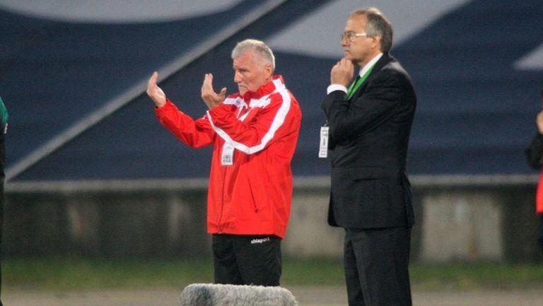 Треньорът на Локо Пд пожела успех на Лудогорец