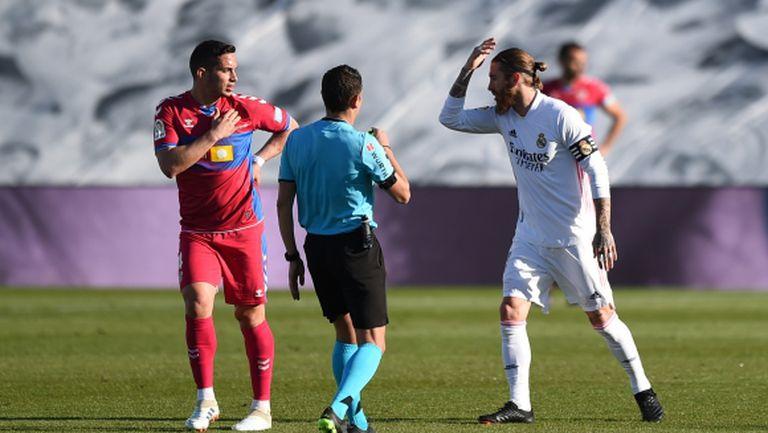 Серхио Рамос с претенции за дузпа срещу него