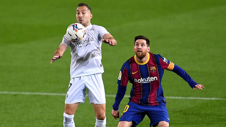 Барселона - Уеска 4:1, Меси с два гола