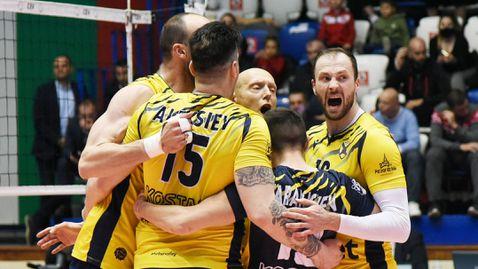 Хебър (Пазарджик) с историческа титла във волейбола (видео + галерия)