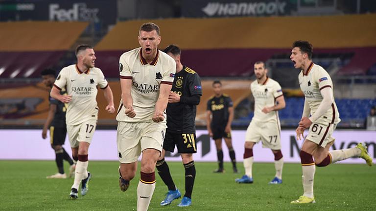 Един Джеко изравни за Рома срещу Аякс