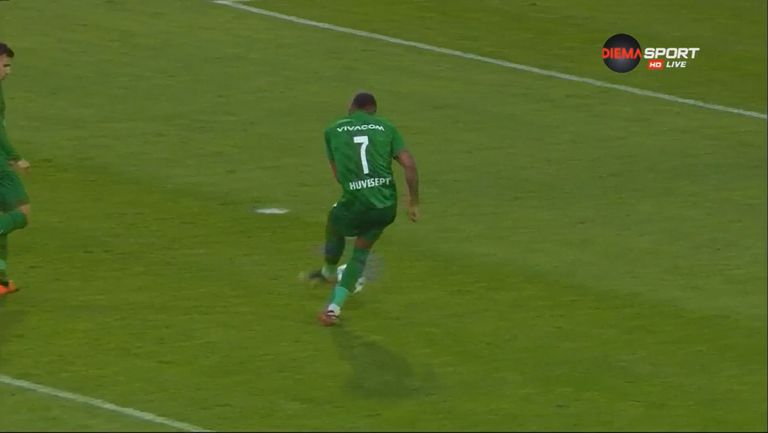 Алекс Сантана с премерен удар с левия крак прати топката за трети път в мрежата на Арда, Лудогорец повежда с 3:1