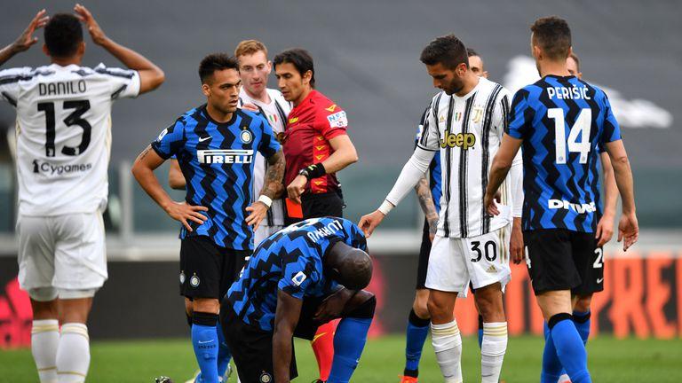 Ювентус 2:1 Интер, домакините са с 10-има играчи, а Роналдо беше заменен (видео)