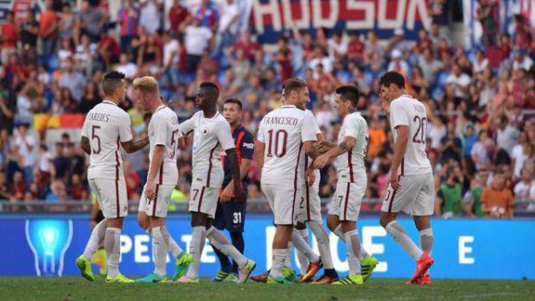 Рома победи Сан Лоренсо в благотворителен мач