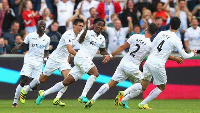 Суонзи спря победния ход на Конте и Челси (видео)