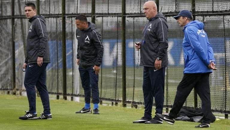 Георги Тодоров води тренировката на Левски, Живко Миланов тренира с тима (галерия)