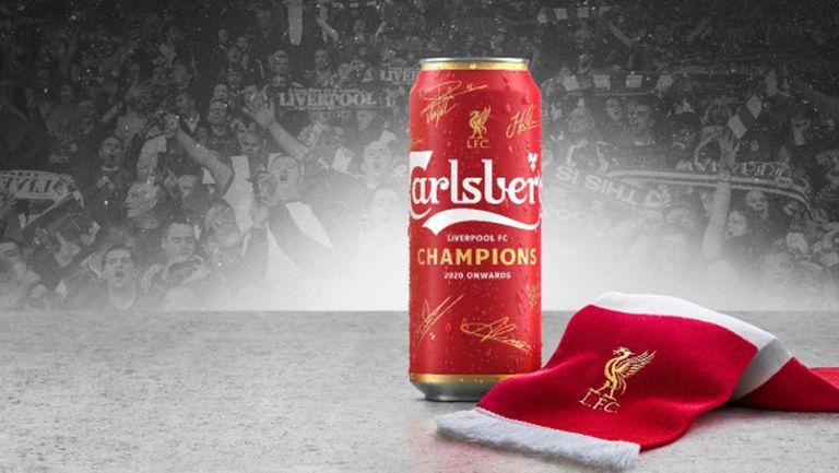"""""""Карлсберг"""" поздравява феновете на Ливърпул по света със специална лимитирана серия кенове"""