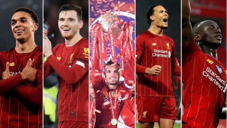 Петима от Ливърпул в Идеалния отбор за сезона