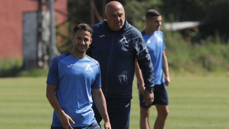 Борислав Цонев и Алекс Петков са в групата на Левски за двубоя с Етър