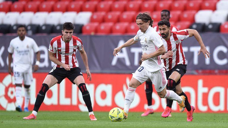 Атлетик Билбао 0:1 Реал Мадрид, защитник вкара за гостите