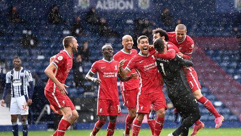 Уест Бромич - Ливърпул 1:2, вратарят Алисон с победен гол