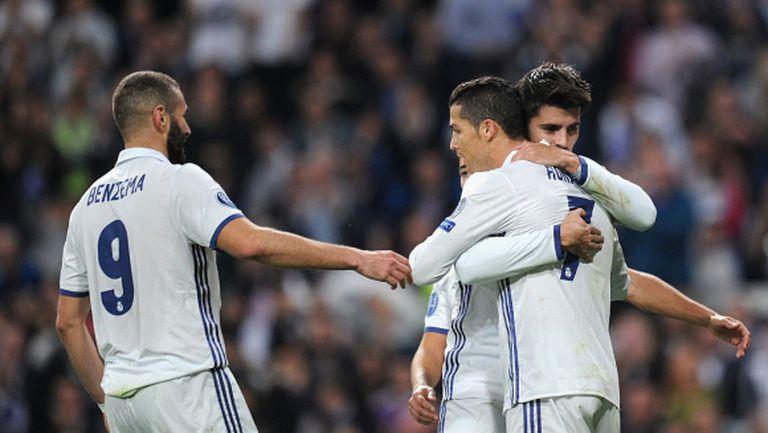 Реал Мадрид напълни кошницата на Легия, Роналдо отложи гол №100 в Европа (видео)