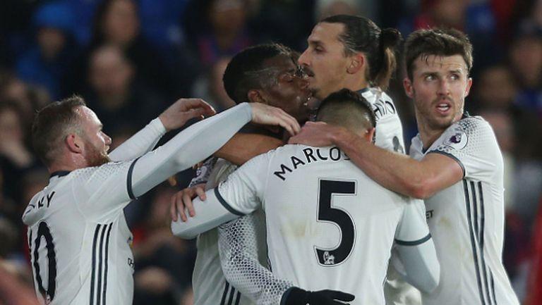 Златният Златан донесе нови три точки на Ман Юнайтед (видео)
