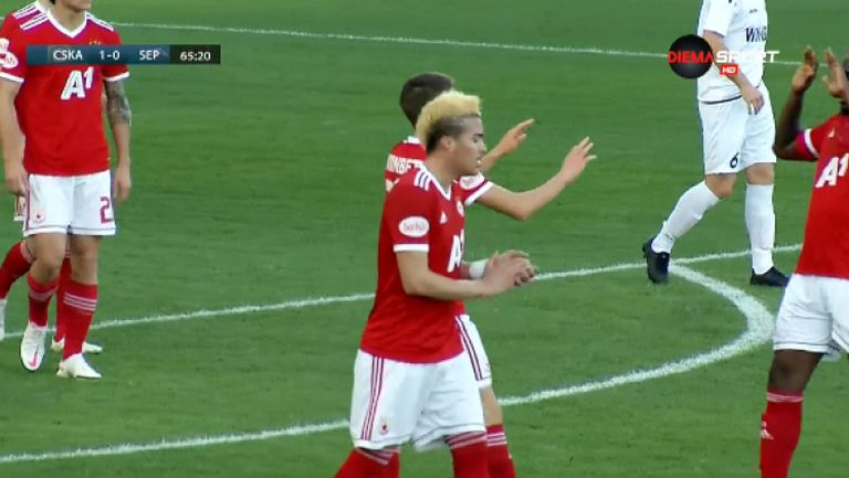 Смоленски вкара втори гол за ЦСКА-София срещу Септември (Симитли)