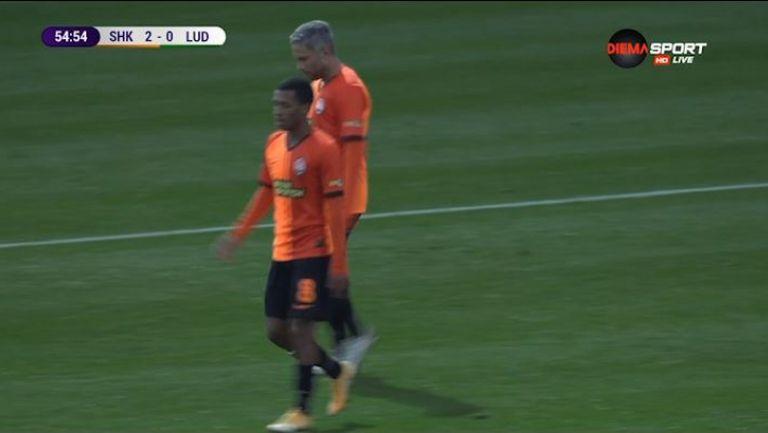 Коноплянка вкара втория гол във вратата на Лудогорец