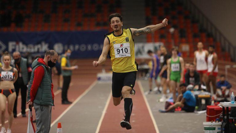 Даниел Добрев шампион в скока на дължина със 7.76 метра